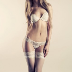 Young woman in lingerie
